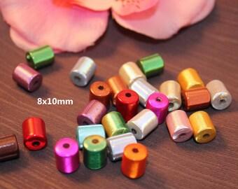 Lot 20 miracle beads / Tube Magic 8 x 10 mm mixed color