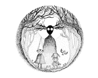 Into The Unknown- A4 print- Over The Garden Wall Inspired- Free worldwide shipping