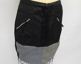CUSTOM Patchwork Pencil Skirt YOUR SIZE