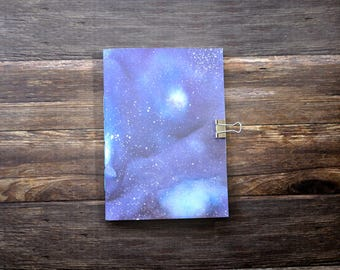 Travelers Notebook Insert with Galaxy Painting - Midori Insert - Notebook - TN Insert - Planning Insert - Bullet Journal - Various Size