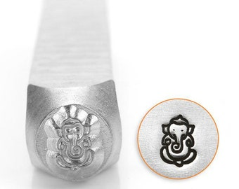 Ganesha Metal Design Stamp ImpressArt- 6mm  Design Stamp-Steel Stamps