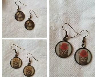 Handmade Resin Cat Earrings