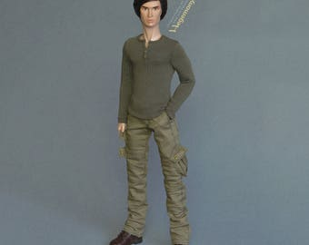 Longer 1/6th scale cargo pants / trousers for: Fashion Royalty male dolls and taller collectible action figures