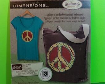 Dimensions Fabric Appliqué POLKA DOT PEACE Embroidery Kit