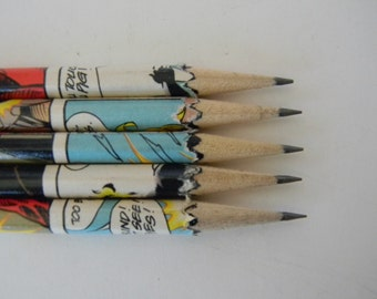 Hand wrapped comic book pencil set
