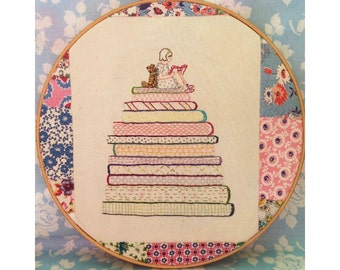 Rosie & Bear: A Good Book pdf Embroidery Pattern