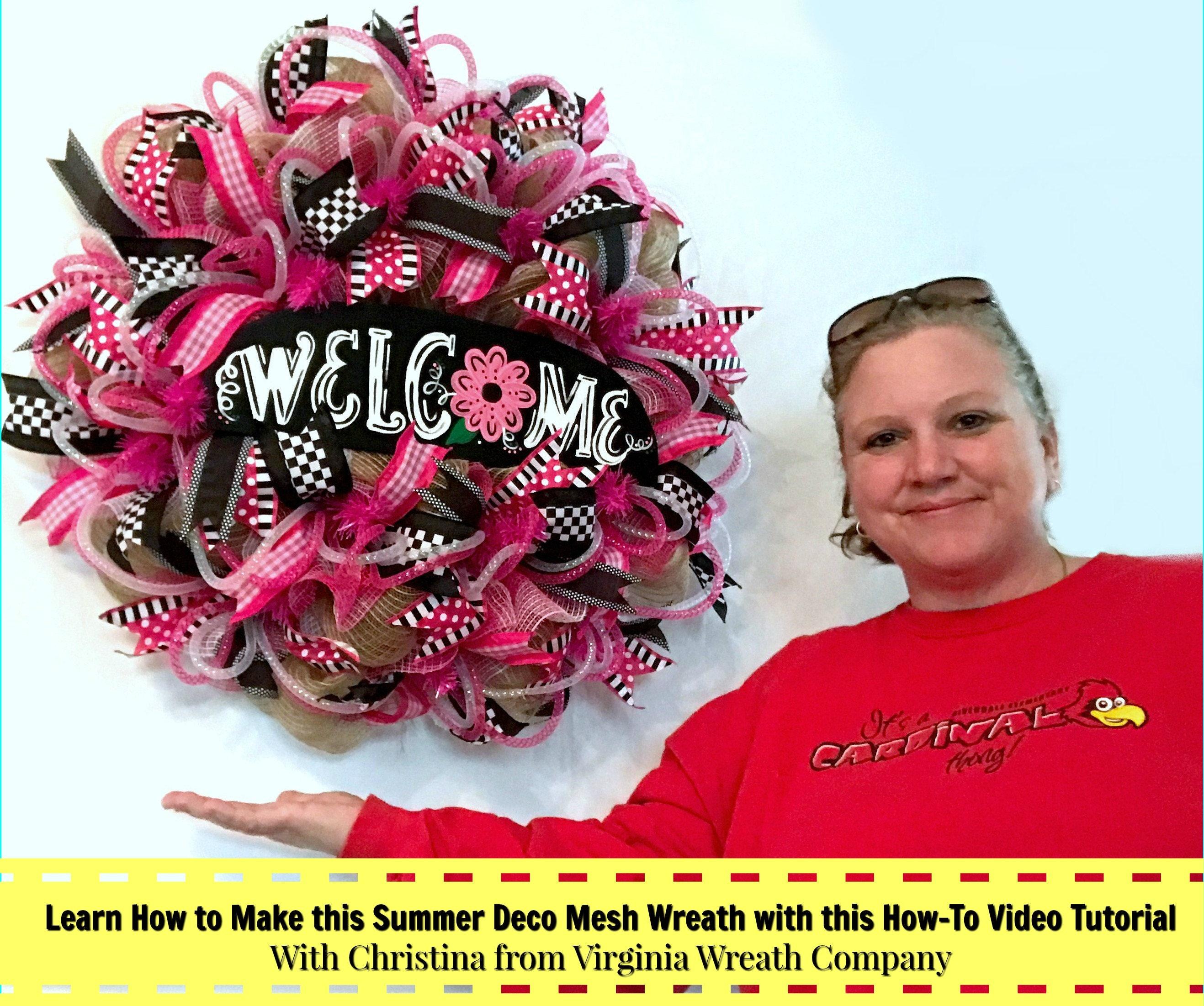 Learn how to make a deco mesh wreath diy wreath tutorial diy zoom baditri Gallery