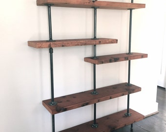 The Colorado Reclaimed Wood Pipe Bookshelf