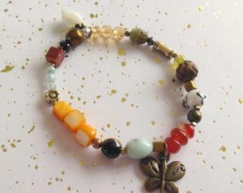 """bracelet a l'esprit baroque multicolore """"chloé"""""""