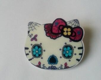 Brooch Cat Head Zombie Cat ♥ ♥ ♥ ♥