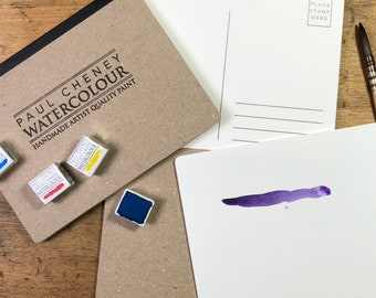 Artist grade blank Watercolor postcards, watercolour postcards