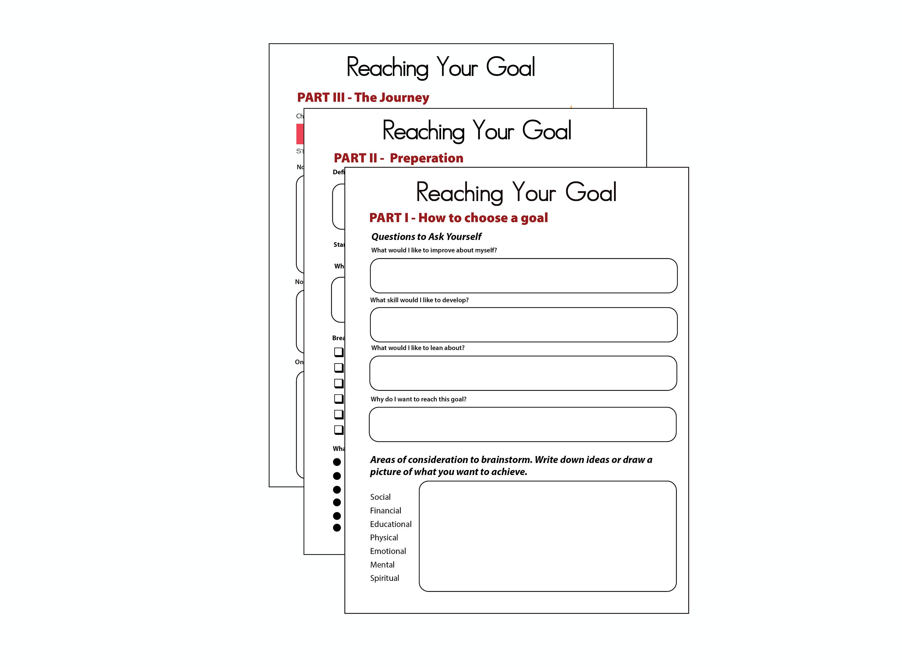 worksheet Self Esteem Building Worksheets printable goal journal self esteem building worksheet mental