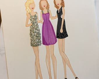 """Fuller House """"She Wolf Pack"""" Fashion Sketch"""