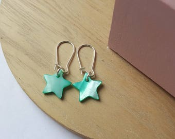 Mother of Pearl star earrings