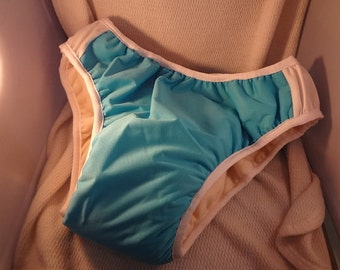 Nighttime Fully Waterproof ADULT Bedwetting Incontinence Underwear with Organic Bamboo Soaker - Solid or Print Color Exterior