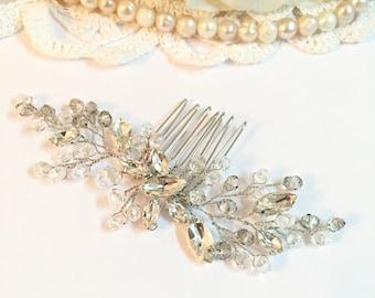 Wedding Hair Combs, bridal hair comb silver, hair combs for wedding, crystal hair comb, hair comb art deco, wedding hair accessories bridal