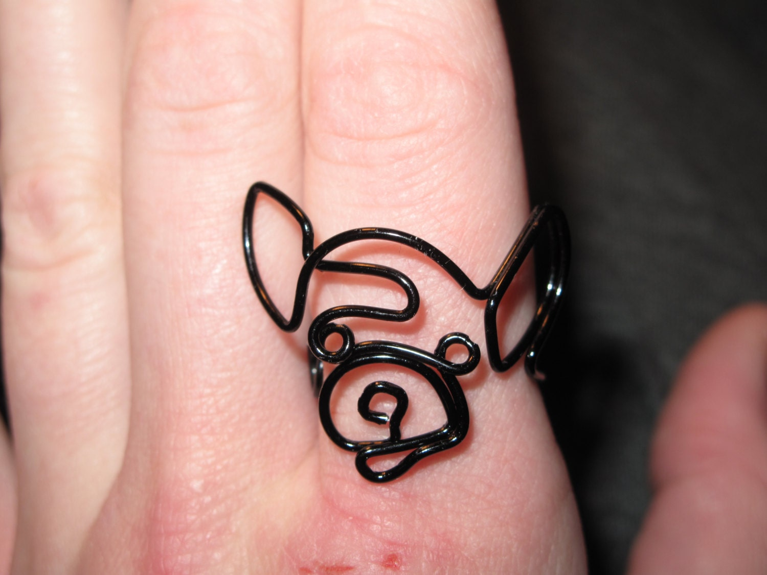 Wire Wrapped Chihuahua or Any Dog Head MADE to ORDER Ring