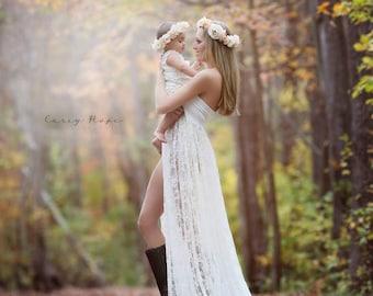 Tiffany Gown • Lace Maternity Dress • Maternity Gown • Maxi Dress • Senior Photo Shoot • Bridesmaid Dress