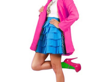 Wonderland Collared 'Mad Hatter Swing Coat' *Limited Edition - Pink