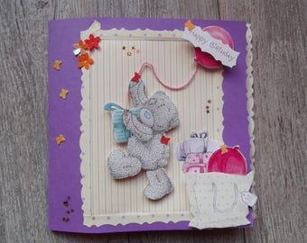 """Happy birthday"" handmade card"