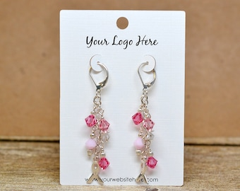 14 SIZES | Custom Earring Cards with Your Logo Jewelry Display Cards - Product Display