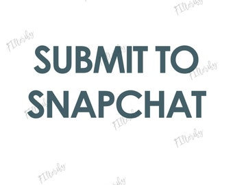 Submit to snapchat option