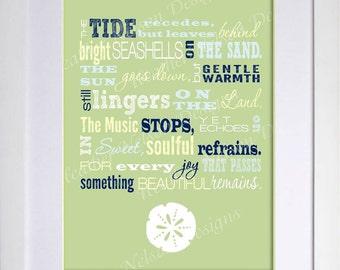 Beach Poem Wall Art Print- DIGITAL