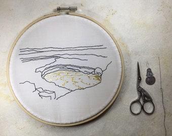 Kilauea Volcano 22k Gold Lava DIY Embroidery Kit
