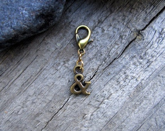 Bronze & AND Charm - Midori Charm - Fauxdori Traveler's Notebook Charm