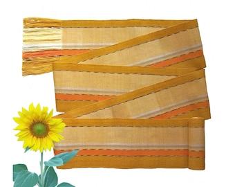 Citrine Yellow Sash, SA13 - Gold Sash Belt - Guatemalan Textiles - Woven Belt - Gypsy Clothing - Fabric Sash Belt - Ethnic Sash