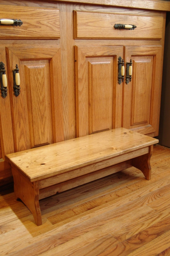 Bedside Step Stools For Adults: Custom 10x 27 Long X 9.5h Handcrafted Heavy