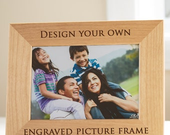 Customized/Personalized Engraved Alder Wood Picture Frame