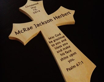Personalized Wooden Baptism/Christening Cross