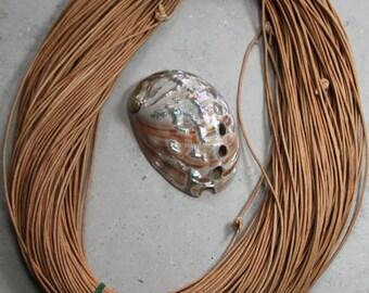 1.8mm natural greek leather cord- 10 meters / 32.5 feet