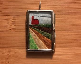 Wee Farm Quilt Pendant