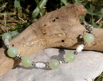 Bracelet stones Jade and grain of rice