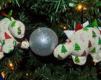 Nerdisaurus Christmas Tree Dinosaur Handmade Handsewn Stegosaurus Ornament