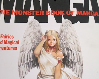 """Manga """"The monster Bookof  Manga"""" Drawing Japanese characters used softbound book good condition 384 pages"""