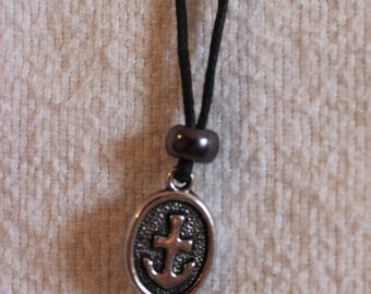 Anchor Oval/Charm Necklace