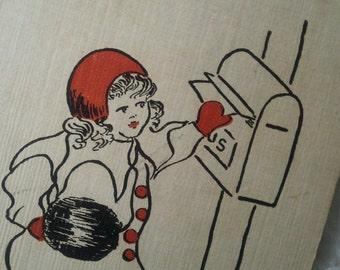 To My Valentine - Vintage Valentine Postcard