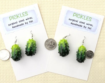 Pickle Earrings and Pin