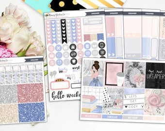 Dreamer | FULL Weekly Planner Sticker Kit for use with Erin Condren Lifeplanner™, Filofax, Personal, A5, Happy Planner
