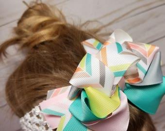 Personalized Hair Bows & Headband Combo