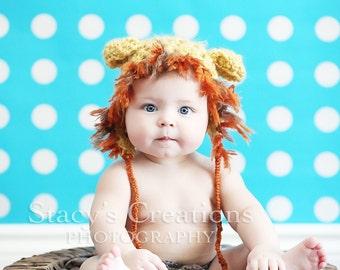 Baby Hat, Newborn Hat, Infant Hat, Baby Girl Hat, Newborn Boy Hat, Baby Photo Prop, Newborn Lion Hat, Baby Animal Hat, Infant Animal Hat