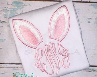 Bunny Monogram Shirt, Gown or Bodysuit