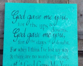 Simply Rustic Creations God gave me you