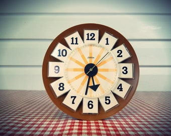 Vintage Sunbeam Mid Century Clock, Mint Condition