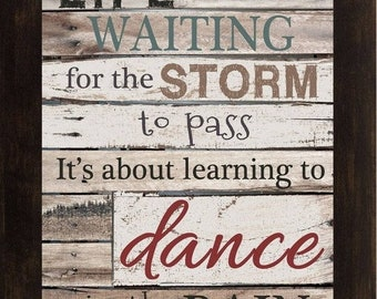 Sale Waiting for the storm to Pass Dance In The Rain Black Red Framed Art