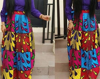 Ankara maxi skirt, Ankara skirt, Ankara fabric, African fabric, African maxi skirt, African skirt, African print skirt, Maxi skirt