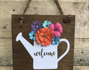 Watering can hanging sign